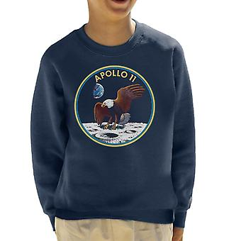 NASA Apollo 11 Mission Badge Kid's Sweatshirt