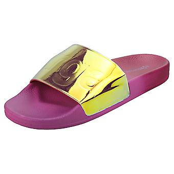 Superga 1908 Womens Slide Sandals in Magenta