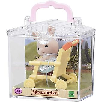 Sylvanian Families Baby Carry Case - Rabbit On Pushchair  5200