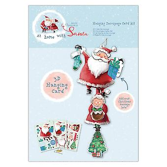 Papermania At Home with Santa Hanging Decoupage Card Kit