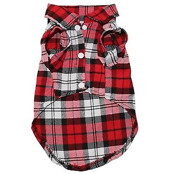 Pet Dog Clothes Soft Summer Plaid Dog Vest Clothes For Small Dogs Chihuahua Cotton Puppy Shirts T-shirt Cat Vests