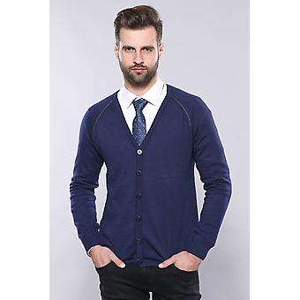 Cotton knitwear navy blue
