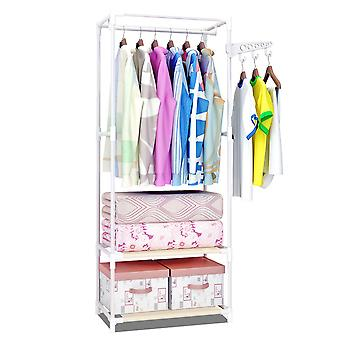 YANGFAN Simple Multifunctional 2-Layer Clothing Rack