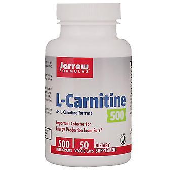 Fórmulas De Jarrow, L-carnitina 500, 500 mg, 50 cápsulas vegetarianas