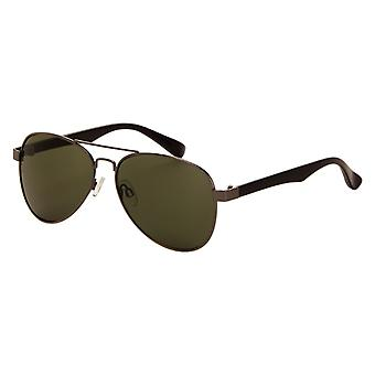 Sunglasses Unisex Grey with Green Lens (7140P)
