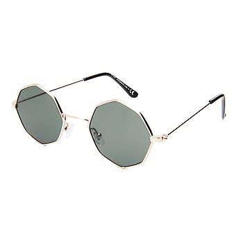 Sunglasses Unisex Cat.3 Silver/Green (19-097)