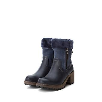 Xti - shoes - ankle boots - 64783_NAVY - ladies - navy,sienna - EU 37