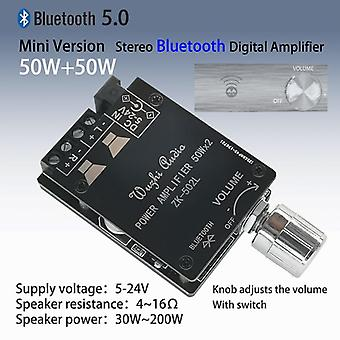 Bluetooth 5.0 Wireless Audio Digital Power Amplifier Stereo Board 50wx2 Bluetooth Amp Amplificador Zk-502l