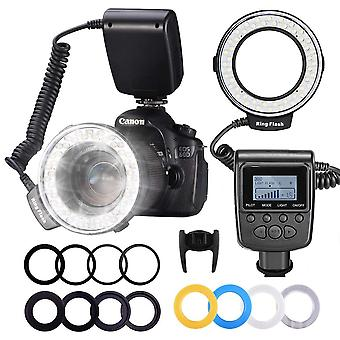 Makro Led ficklampa Speedlight För Dslr Kamera Foto Ring Ljus Kit