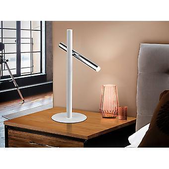 Geïntegreerde LED 2 lichttafellamp Mat Wit, Chrome