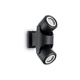 Ihanteellinen Lux Xeno - 2 vaalea ulkoseinä vaalea musta IP44, GU10