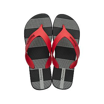Ipanema Deck Mens Flip Flops / Sandals - Black and Red