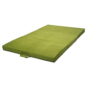 Vikbar madrass gästmadrass 200x120x10 cm grön