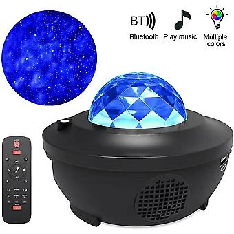 Galaxy Starry Night Lamp For Led Star Projector Night Light Ocean Wave Projector With Music Bluetooth Remote Control Kids Gift