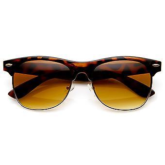 Tradycyjny styl Retro pół ramki róg oprawkach okularów przeciwsłonecznych
