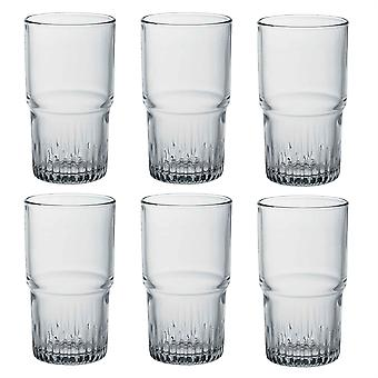 Duralex Empilable Stackable Highball Cocktail Glasses - 340ml Drinking Tumblers - Pack de 6