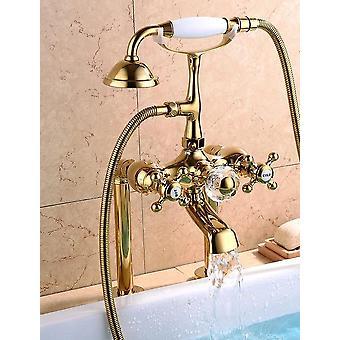 Europese antieke vloer goud keramische handvat - Badkuip Kraan Douche