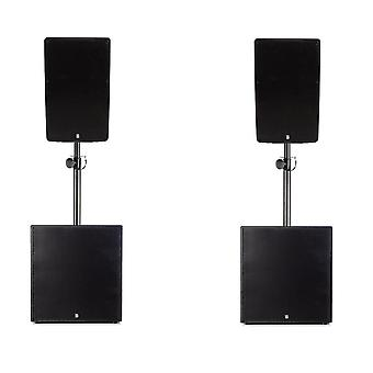 Big gig rig 39 - active 1800w rms 12 tops and 12 subwoofer pa system with bluetooth