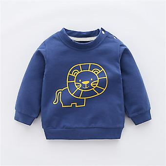 Baby Hoodies Tops Lion Blouse Pullover For Baby Infant Clothes Black Blue