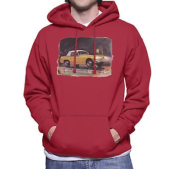 Austin Healey Yellow British Motor Heritage Men's Hooded Sweatshirt