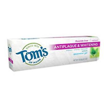 Tom's Of Maine Natural Toothpaste Antiplaque & Whitening, Spearmint 4.7 oz