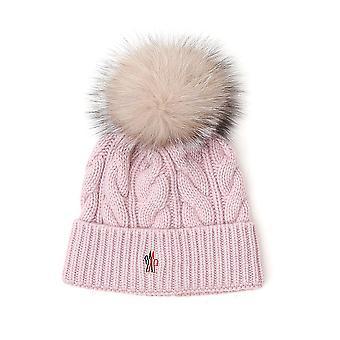Moncler Grenoble 3b702a0069513 Women's Pink Wool Hat