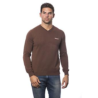Roberto Cavalli Sport Marrone Brown V-Neck Sweater