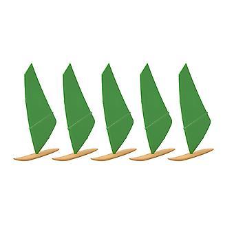 5Pcs IH96-112 1:250 Surf sail boat pour accessoires de bricolage Couleur 11-9