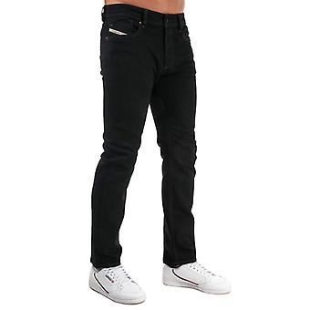 Herren Diesel Waykee Straight Fit Jeans in Schwarz