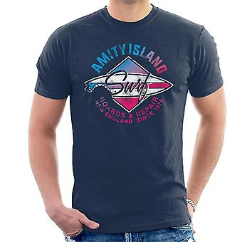 Jaws Amity Island Surf Boards And Repair Men's T-Shirt