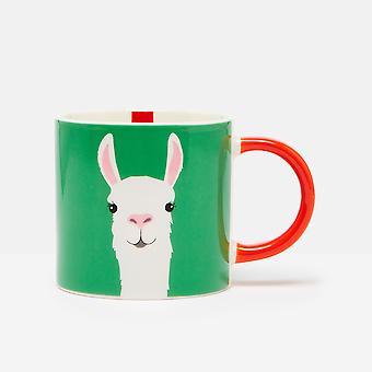 Joules Llama Mug, Green