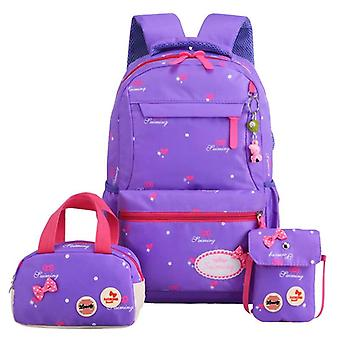 3pcs/set Printing School Bags Fashion Kids Lovely Backpack