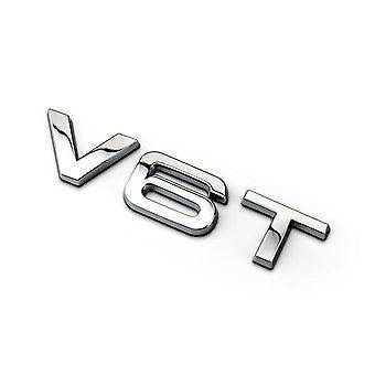 Chrome Audi V6T Side Wing Badge A4 A5 A6 A7 S4 S5 Q5 Q7