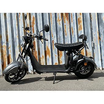 """Fatboy City Coco Smart E Electric Scooter Harley - 13 """"- 1500W - 20Ah - A Class - Gray"""