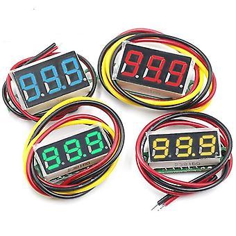 Dc Wire Mini Gauge Voltage Meter Voltmeter Led Display Digital Panel Voltmeter