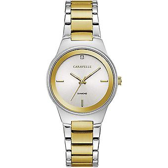 Caravelle Watch 45P108 - Plated Stainless Steel Ladies Quartz Analogue