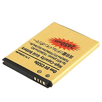 2450mAh High Capacity Gold Business Battery pour HTC T528d (One SC) / T528t (One ST) / t528w (One SU) / One SV c520e