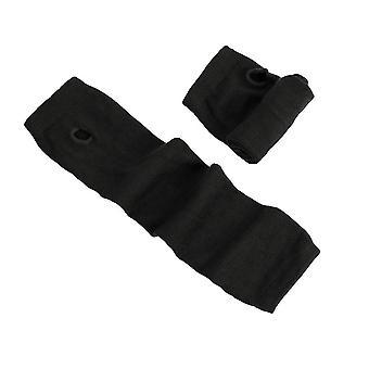 Lange dehnbare stricken gestreifte Fingerless Mitten Winter warme weiche Handschuhe