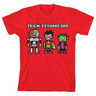 Pojat teini titaanit mennä paita nuorten punainen tshirt