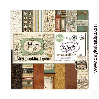 DayKa Trade Antique Style 8x8 Inch Paper Pack