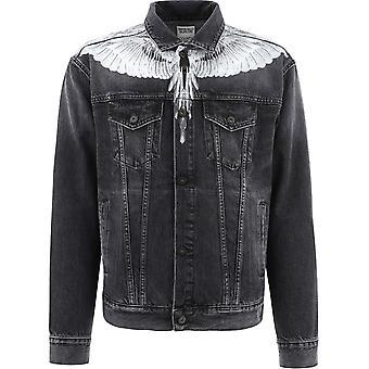 Marcelo Burlon Cmye001r21den0011001 Men's Black Cotton Outerwear Jacket