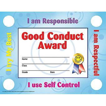 "Good Conduct Certificates & Reward Seals, 30 8.5"" X 11"" Certificates, 160 Seals"