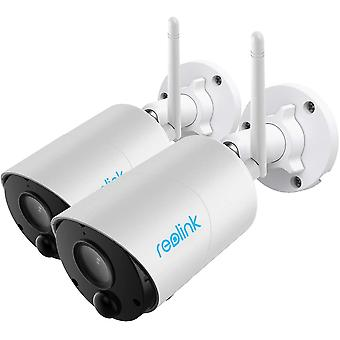 Reolink Battery Security Camera Rechargeable Outdoor Solar Powered 1080p Wireless WiFi IP Camera