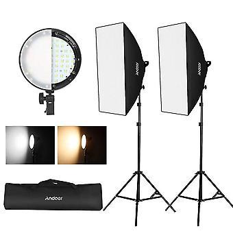 Andoer 20 * 28 pouces softbox kit d'éclairage de photographie professionnelle, publicité équipement de tir co