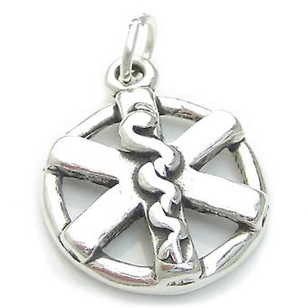 Medical Symbol Sterling Silver Charm .925 X 1 Medicine Charms - 1852