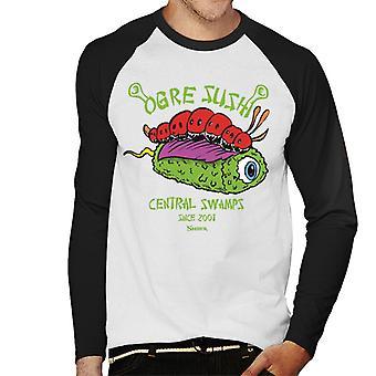 Shrek Ogre Sushi Central Sumpe Mænd's Baseball langærmet T-shirt