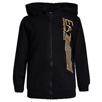 EA7 الأولاد EA7 بوي & apos;ق البدلة السوداء مع شعار أسود