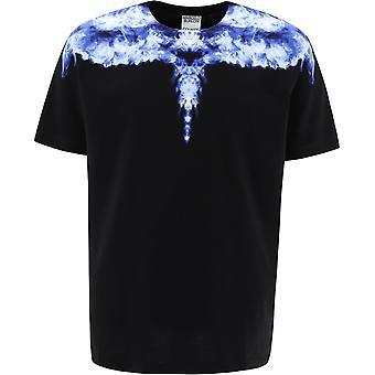 Marcelo Burlon Cmaa018r21jer0031042 Men's Black Cotton T-shirt