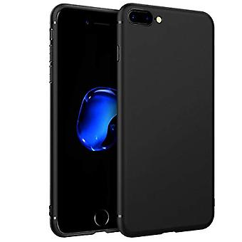 EasyAcc Slim Case for iPhone 7 Plus/iPhone 8 Plus, Ultra Thin Fit Matte TPU Phone Cases Finish Profile Soft Back Protective Cover Compatible with iPhone 7 Plus/8 Plus-Black