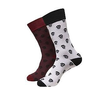 Urban Classics Unisex Socks Skull Allover Double Pack